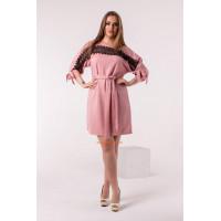 Женское шикарное платье с поясом большого размера