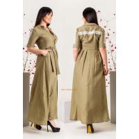 Женское макси платье халат с поясом