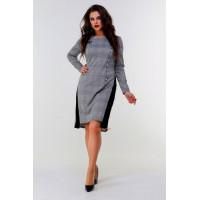 Модное деловое платье для полных женщин