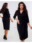Модне жіноче плаття з запахом для повних