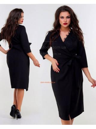 Модное женское платье с запахом для полных