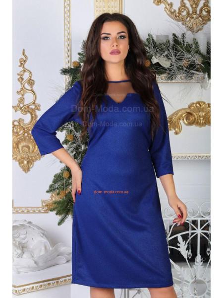 Женское вечернее платье с люрексом для полных
