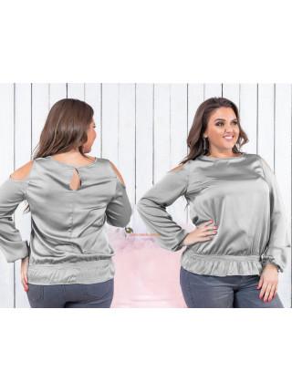 Шовкова жіноча блузка великого розміру