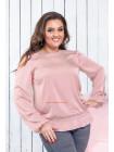 Шелковая женская блузка большого размера