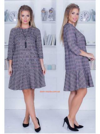 Платье в клетку для полных дам