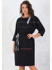 Платье из трикотажа для полных женщин