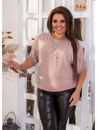 Жіноча кофта з коротким рукавом великого розміру