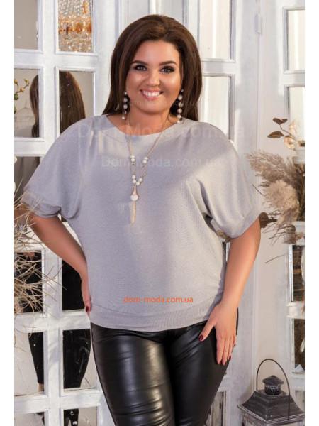 Женская кофта с коротким рукавом большого размера