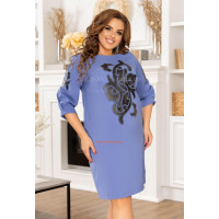 Красивое платье в деловом стиле большого размера