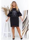 Коротке жіноче плаття чорного кольору батал
