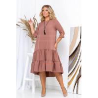 Женское асимметричное платье большого размера