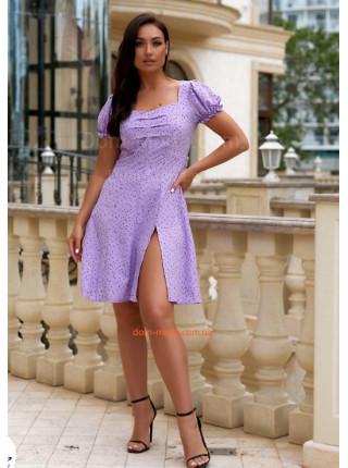 Приталене плаття в дрібний горошок