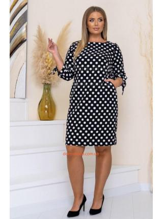 Сукня в горошок для повних жінок