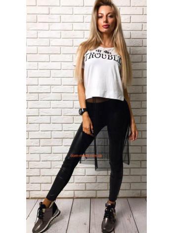 Женская модная футболка с фатином