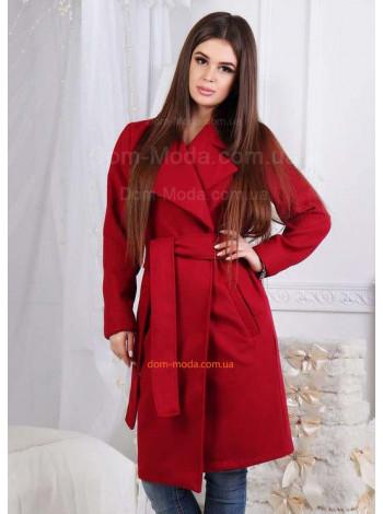 Стильное женское пальто по колено