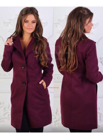 Жіноче коротке пальто на гудзиках