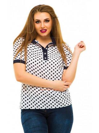 Жіноча шифонова блузка з принтом великого розміру Жіноча шифонова блузка з  принтом великого розміру 31937af875b0e