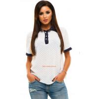 Жіноча шифонова блузка з принтом великого розміру