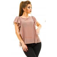 Летняя шифоновая блузка с коротким рукавом большого размера