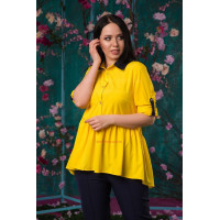 Жіноча літня блузка з баскою великого розміру