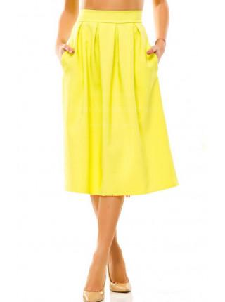 Женская модная юбка миди фасона колокол