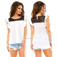 Модна літня жіноча блуза з мереживом