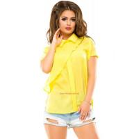 Модна жіноча літня блуза з коміром