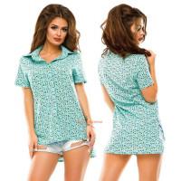 Женская асимметричная рубашка для лета