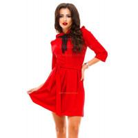 Коротке ділове плаття з рукавом
