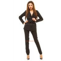 Женский офисный костюм с брюками