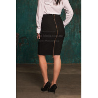 Женская юбка карандаш с молнией сзади большого размера
