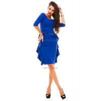 Коротке офісне плаття з рукавом
