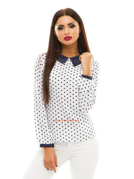 Женская блузка с принтом: горошек и сердечки