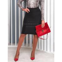 Женская юбка из трикотажа до колена