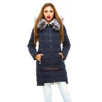 Асимметричная зимняя куртка женская