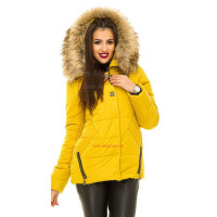 Короткая модная куртка зимняя