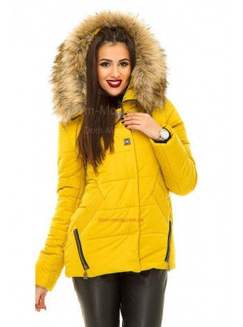 Коротка модна куртка зимова
