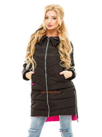 Женская зимняя куртка асимметричного кроя