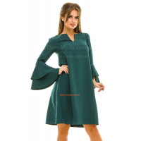 Платье свободного кроя с рукавом воланом