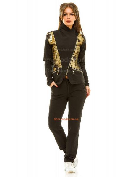 Женский спортивный костюм с пайеткой