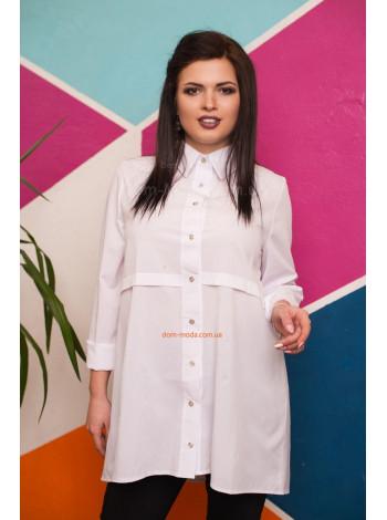 Женская стильная туника рубашка с длинным рукавом