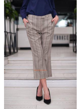 """Женские укороченные брюки """"принт"""""""
