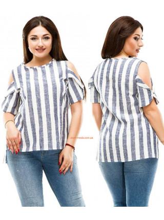 Жіноча рубашка полосата великого розміру