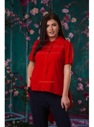 Женская рубашка с длинной спинкой