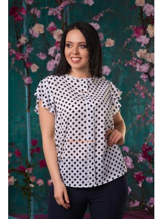 """Жіноча блузка великого розміру """"Горошок"""""""