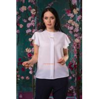 Летняя модная блузка с коротким рукавом для полных женщин