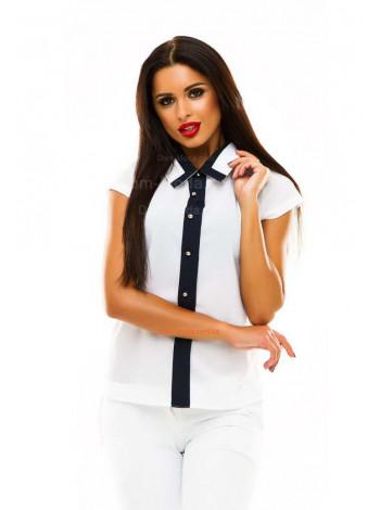 Летняя женская блузка с воротником