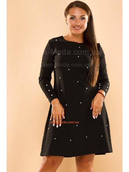 Жіноче плаття з перлами великого розміру