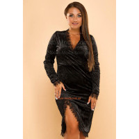 Коротка вечірня сукня оксамитова великого розміру