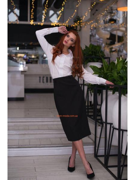 Модная женская юбка миди с разрезом